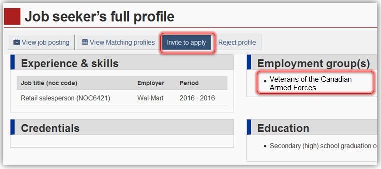 Veterans full profile