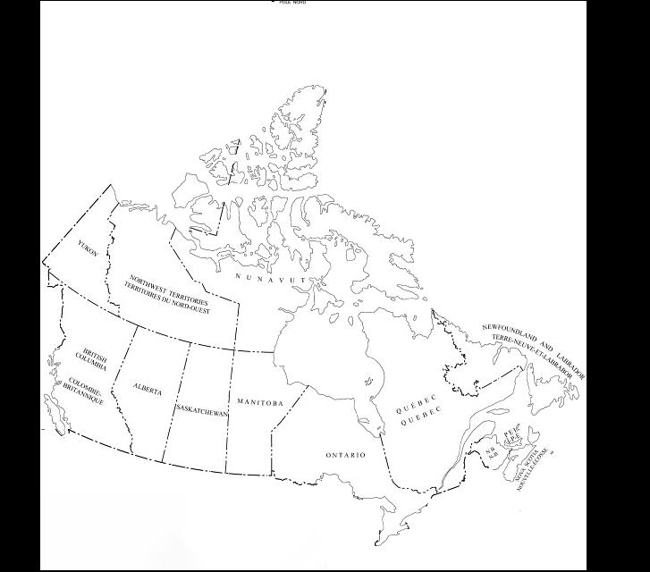 Clickable map of Canada