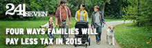 24 seven - Four ways families will pay less tax in 2015
